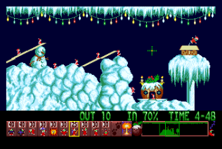 Holiday Lemmings 1993 Amiga 11