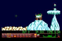 Holiday Lemmings 1993 Amiga 13