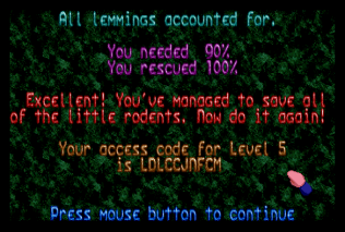 Holiday Lemmings 1993 Amiga 22