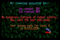 Holiday Lemmings 1993 Amiga 28