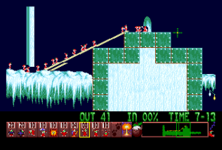 Holiday Lemmings 1993 Amiga 32