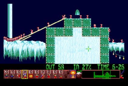Holiday Lemmings 1993 Amiga 34