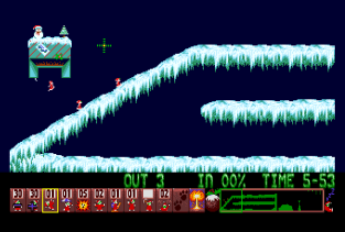 Holiday Lemmings 1993 Amiga 42