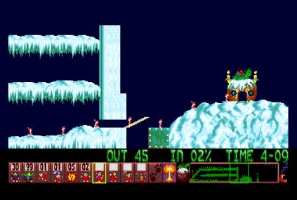 Holiday Lemmings 1993 Amiga 45