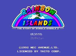 Rainbow Islands PC Engine 001
