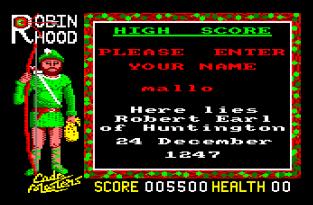 Super Robin Hood Amstrad CPC 12