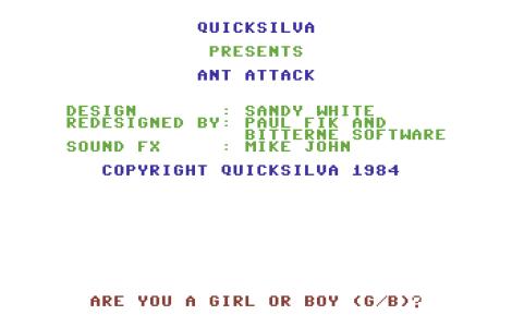 Ant Attack C64 01