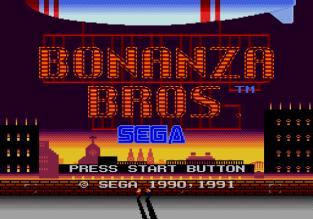 Bonanza Bros Megadrive 01