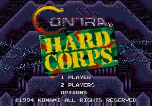 Contra Hard Corps Megadrive 001