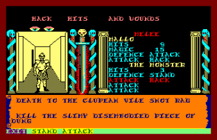 Swords and Sorcery Amstrad CPC 64
