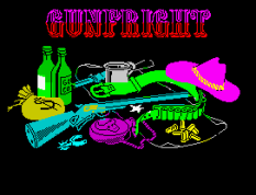 Gunfright ZX Spectrum Loading Screen.