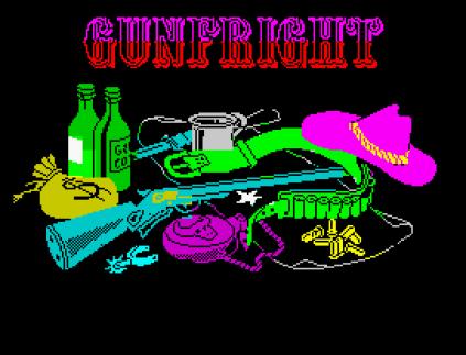 Gunfright ZX Spectrum Loading Screen.