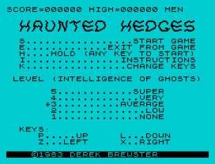 haunted hedges zx spectrum 01