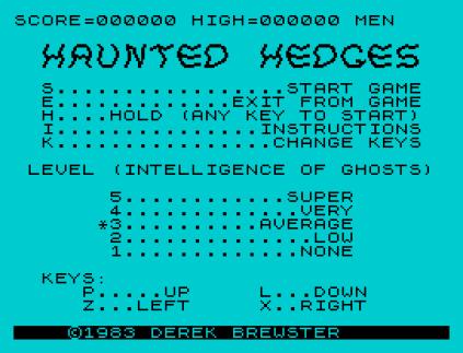 haunted hedges zx spectrum 01