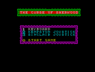 the curse of sherwood zx spectrum 01