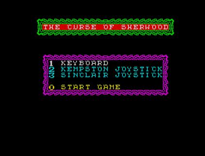 the curse of sherwood zx spectrum 01