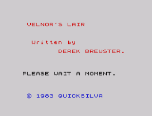 velnor's lair zx spectrum 01