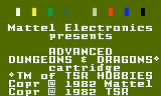 AD&D Cloudy Mountain Intellivision 01
