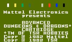AD&D Treasure of Tarmin Intellivision 01