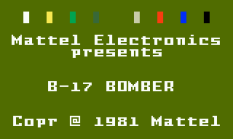 B-17 Bomber Intellivision 01