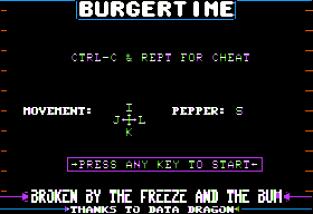 Burger Time Apple II 01