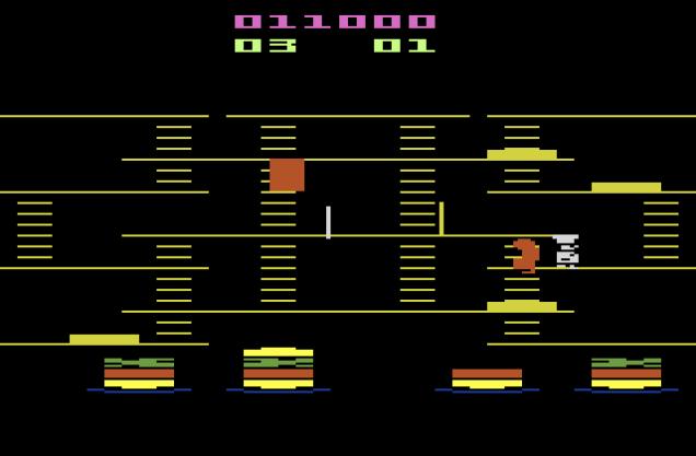 Burger Time Atari 2600 12