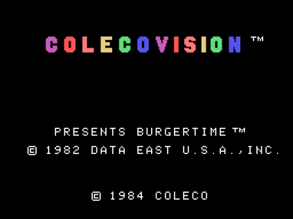 Burger Time ColecoVision 01