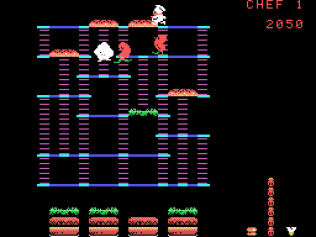 Burger Time ColecoVision 11