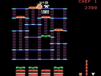 Burger Time ColecoVision 12