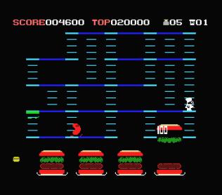 Burger Time MSX 10