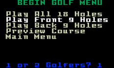 Chip Shot Super Pro Golf Intellivision 27