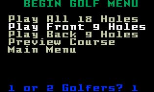 Chip Shot Super Pro Golf Intellivision 27