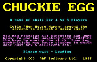 Chuckie Egg Amstrad CPC 01