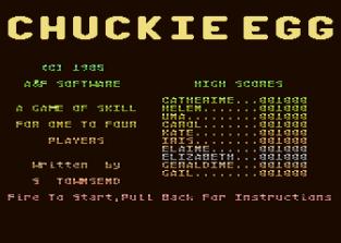 Chuckie Egg Atari 800 01