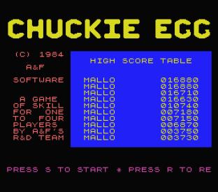 Chuckie Egg MSX 01