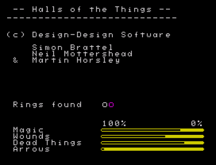 Halls of the Things ZX Spectrum 34