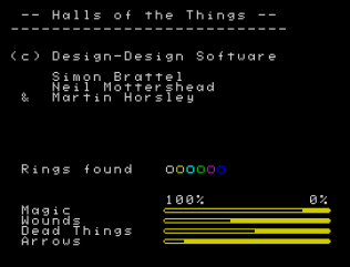 Halls of the Things ZX Spectrum 54