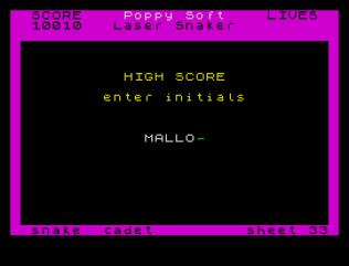 Laser Snaker ZX Spectrum 11
