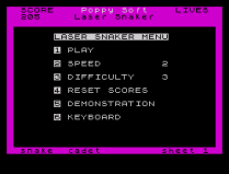 Laser Snaker ZX Spectrum 16