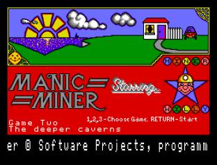 Manic Miner Sam Coupe 20