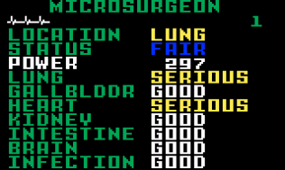 Microsurgeon Intellivision 15