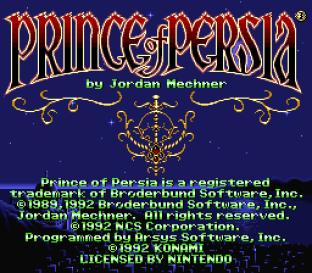 Prince of Persia SNES 01