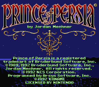 Prince of Persia SNES 01