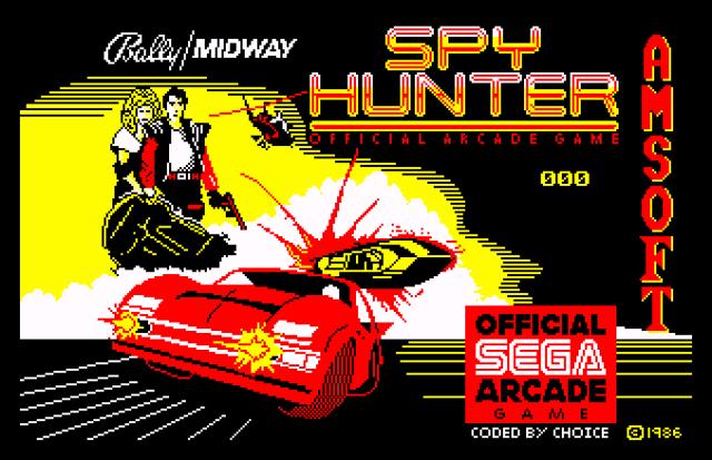 Spy Hunter Amstrad CPC 01