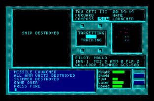 Tau Ceti Amstrad CPC 56