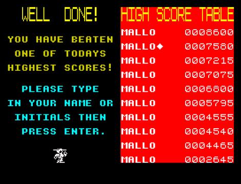 Kong Strikes Back ZX Spectrum 45
