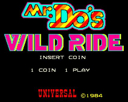 Mr Do's Wild Ride Arcade 01