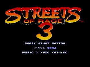 Streets of Rage 3 Megadrive 01