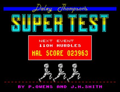 Daley Thompson's Supertest ZX Spectrum 34