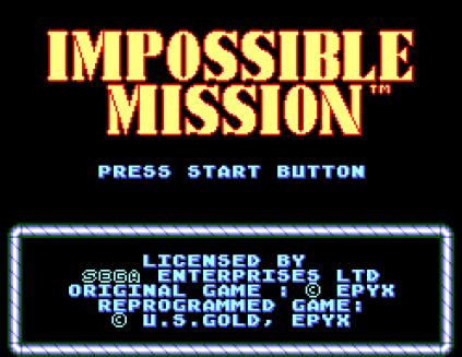 Impossible Mission Sega Master System 01
